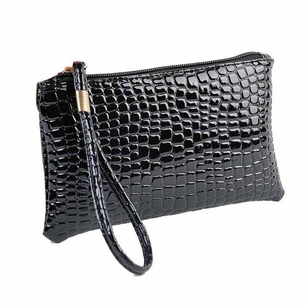 Maioumy кожаная сумка на молнии, женская сумка для монет, Дамский клатч из крокодиловой кожи, сумочка, кошелек, 18 см, Длинный кошелек для монет, сумка для телефона