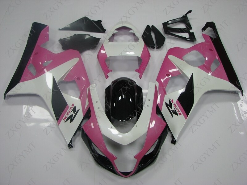 Full Body Kits for Suzuki GSXR600 2004 - 2005 K4 Pink Black Fairings GSXR 600 2004 Fairing GSXR600 04