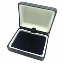 UJOY NEW DESIGN CUFFLINKS&TIE CLIP SET BOX PU LEATHER Velvet inner GIFT BOX CTB101