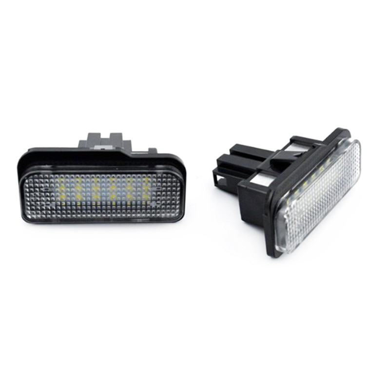 DJSona 2 uds. Luces de matrícula de xenón Plug-N-Play número Led blanco para coche Benz Clase C E CLS W203 W211 W219 E550 E350 Auto Lam