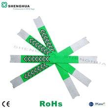 10 sztuk/paczka hurtownie modna bransoletka Tyvek nadgarstek niestandardowe opaski na rękę UHF pasywne naklejki etykiety RFID do zarządzania pływania