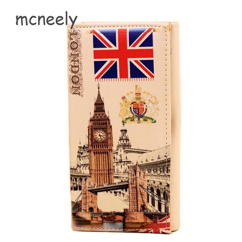 Mcneely, cartera larga para mujer, cartera de mano de Londres, cartera para cartera estudiante, tarjetero, cartera de La chica, nuevo