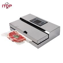 ITOP 110 V/220 V ménage alimentaire scelleur sous vide Machine demballage Film scelleur sous vide emballeur avec sacs demballage