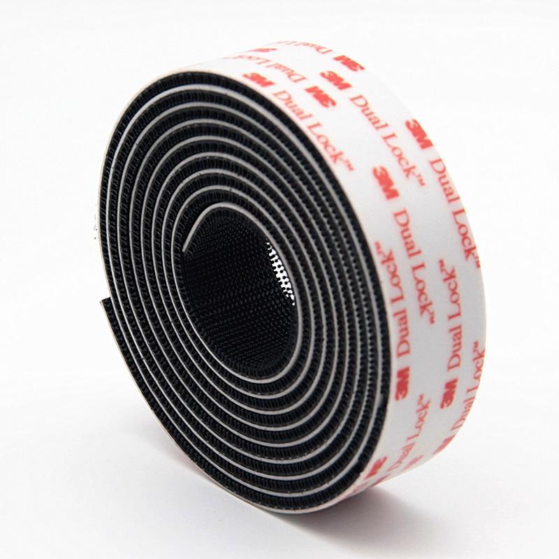 Velcros-Adhesivo tipo SJ3551 para Seta, Adhesivo negro con cinta ajustable, 3M de...