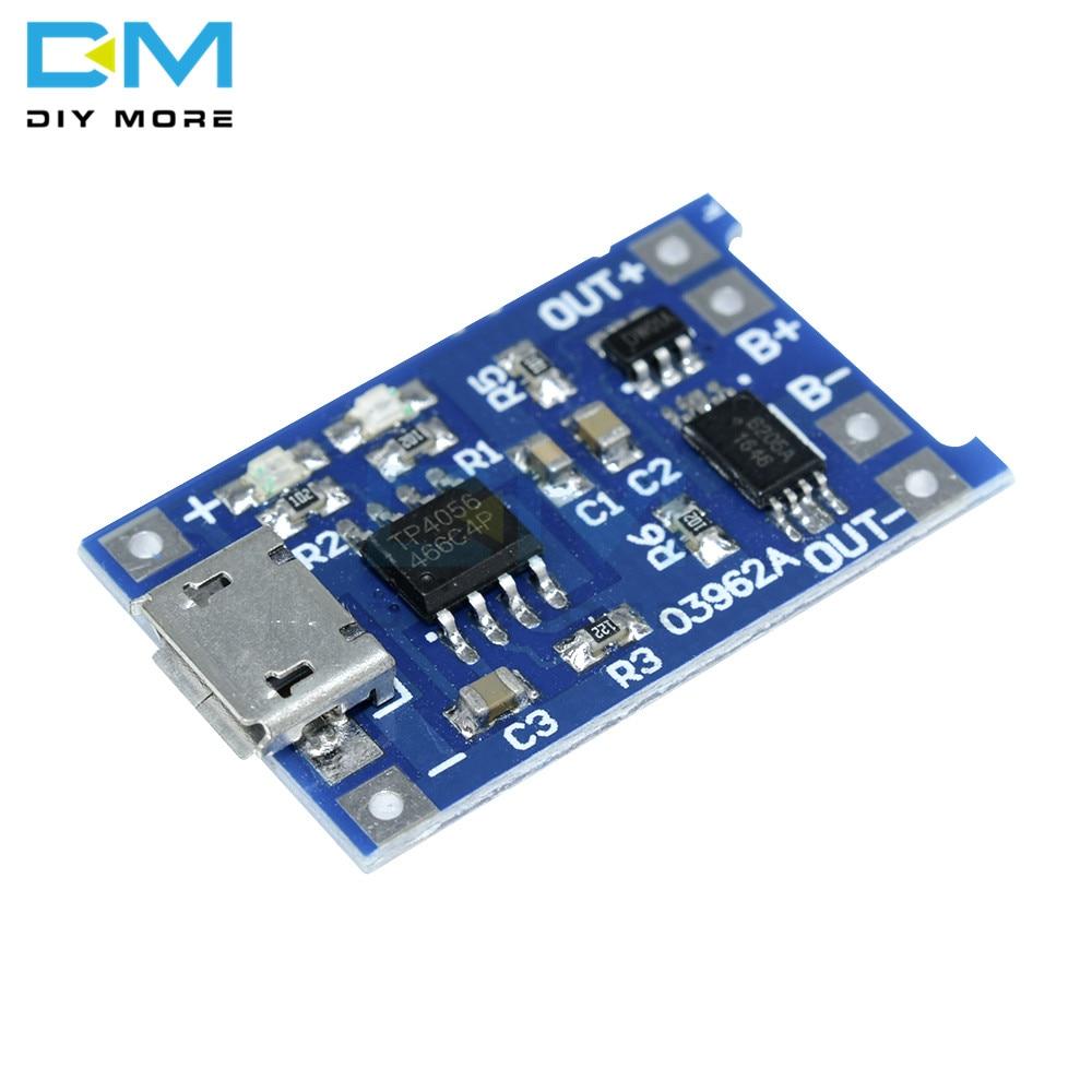 5PCS Micro USB 5V 1A 18650 TC4056A Lithium-Batterie Ladegerät Modul Bord Mit Schutz Dual Funktionen Anzeige Power versorgung