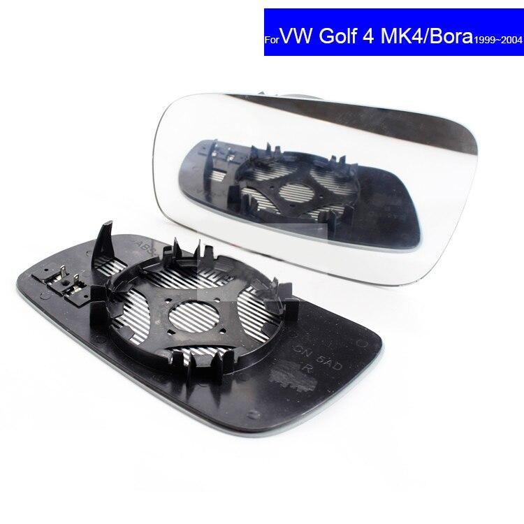 Lente de repuesto para espejo retrovisor de coche, vidrio convexo para Volkswagen VW Glof4 MK4 Bora 1999 ~ 2004, espejo retrovisor automático