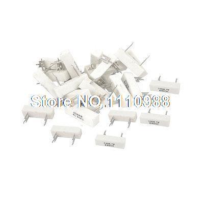 30 x Vertical Fixo Wirewound Cerâmica Cimento Resistor de 3.9 Ohm 7 W 10%