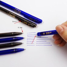 3pc presse spéciale stylo effaçable 0.5mm stylo Gel magique Papelaria examen de rechange stylo neutre bureau et fournitures scolaires