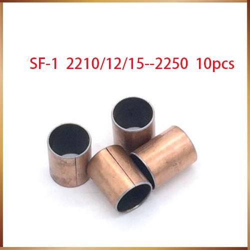 10Pcs SF1 SF-1 2210 2212 2215 2220 2225 2230 2235 2240 2245 2250 Auto Lubrificantes Composite Bearing Bucha Da Luva