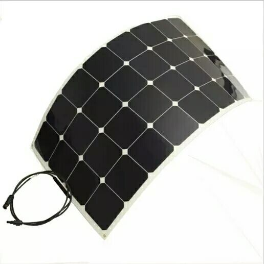 Factory sales 100 watts 100W 12V 12 volt semi-flexibleSolar panel battery charger RV boat, practical and convenient