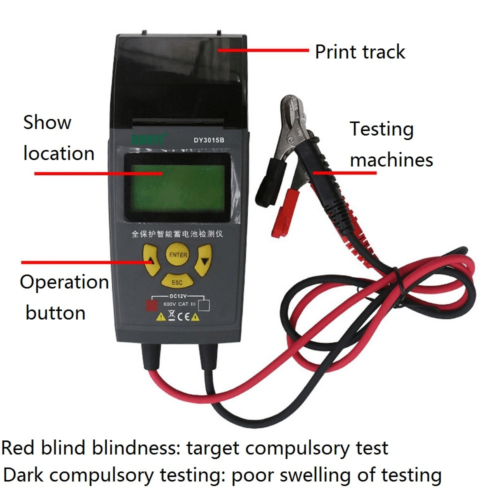 Storage Battery Tester 12V24V Charging System Detection Tester with Printer LCD Read Car Repair Diagnostic Tools  Battery Teste