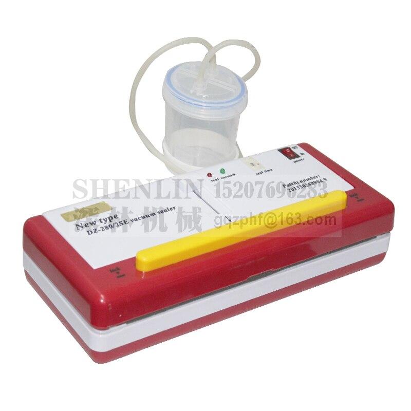 SHENLIN DZ280 /2SE aquatic fish vacuum packaging tool food vacuum saver bags sealing machine wet and dry stuff packaging