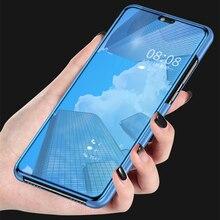 Étui pour smartphone miroir de luxe pour Huawei Y5 Y7 Y9 2018 étui pour Huawey huavei Y7 prime Y 5 7 9 2018 couverture unie brillante