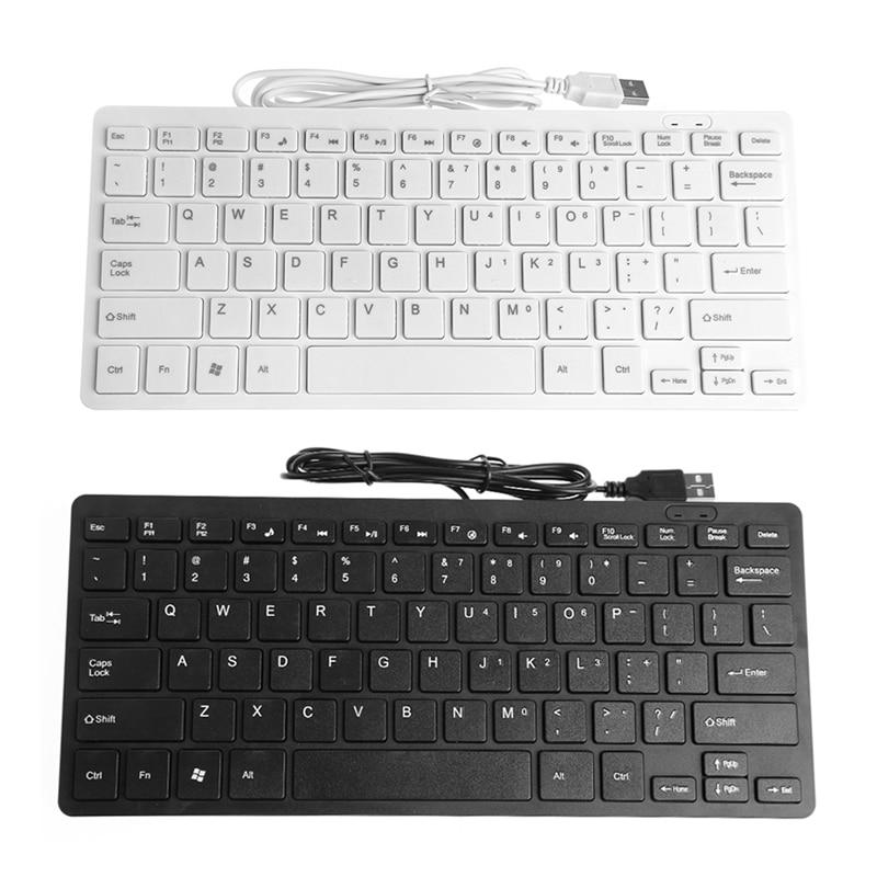 Usb prendido mini magro multimídia teclado externo para computador portátil portátil c26