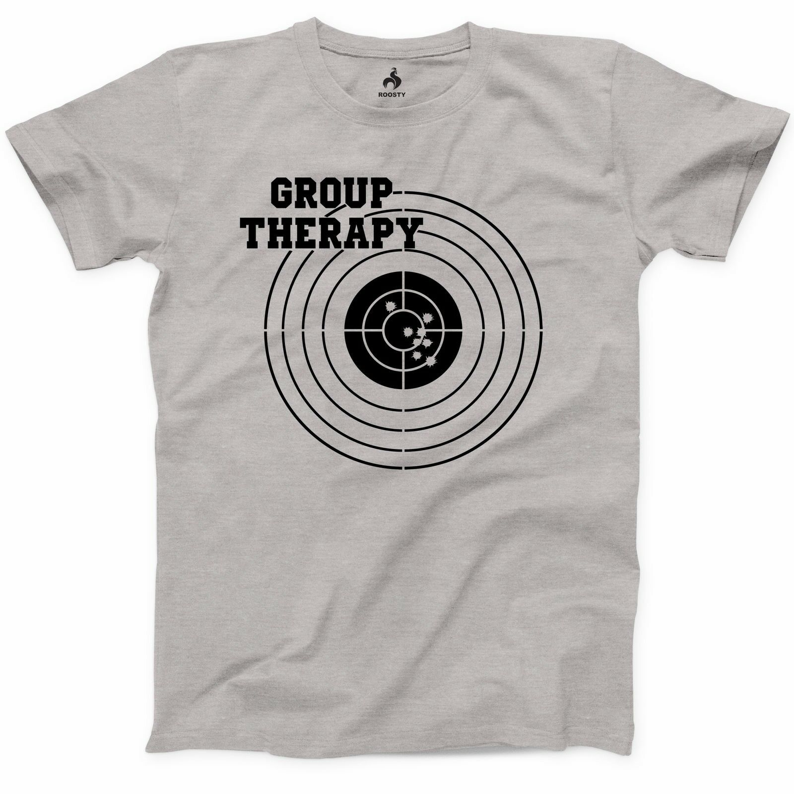 Group Therapy Shooting T Shirt Funny Gun Laws Rights American 2Nd Amendment New Men Fashion Brand Fitness Slim Fit T Shirts