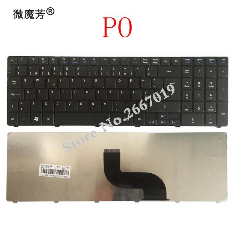 Для Acer Aspire 5738 5738g 5810 5252 7739 7739G 7739Z 7739ZG 8940 5560 (15 ') 5560G 5253 5250G португальский PO Клавиатура для ноутбука