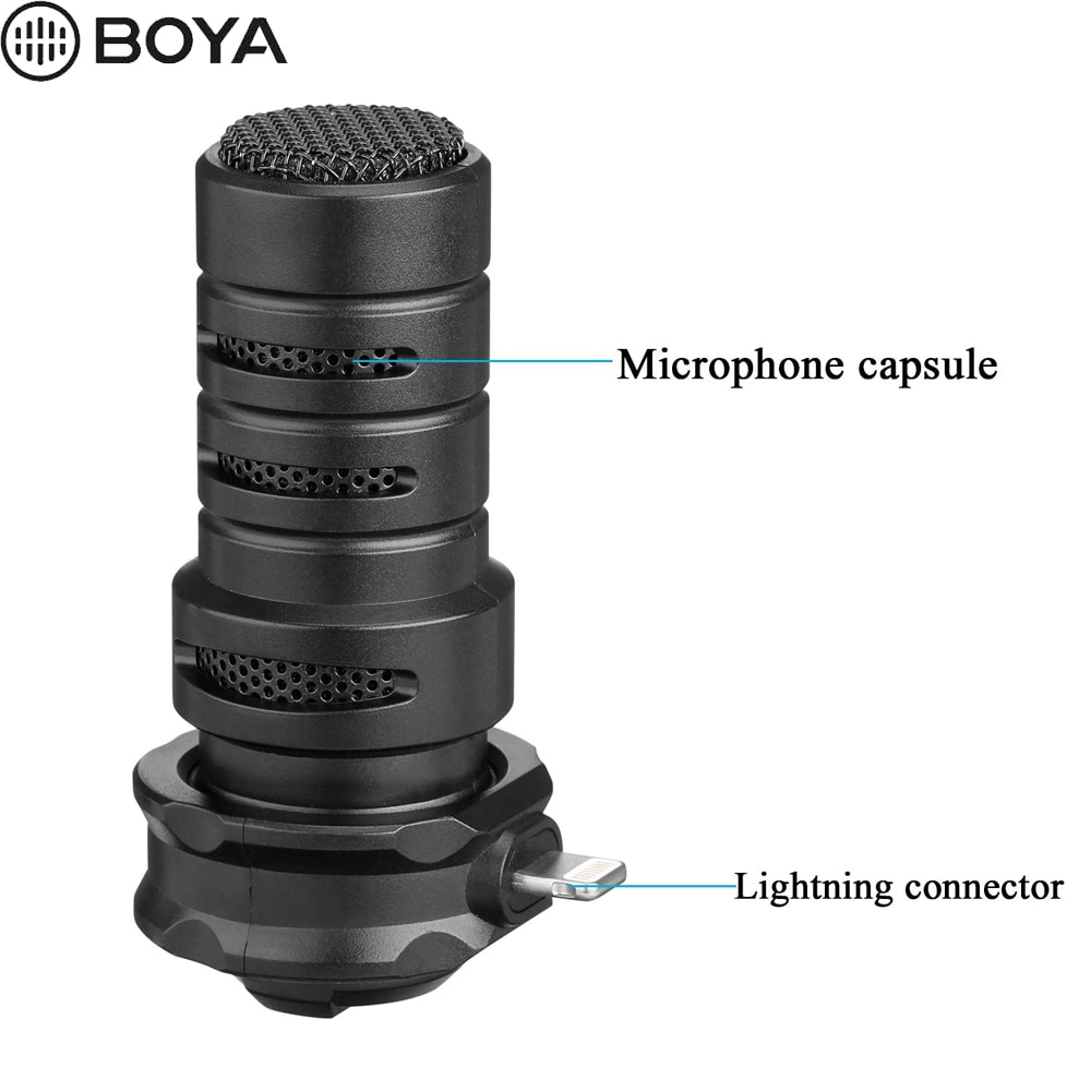 BOYA BY-DM200 Lightning Stereo Microphone Stereo X/Y for iPhone Xs Xr X 8 Plus iPad Air iPod Touch Apple MFI Certified Connector enlarge