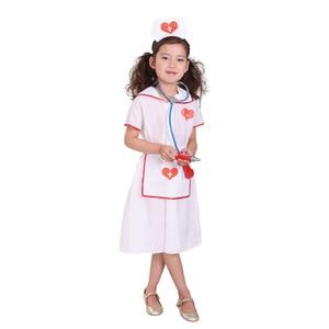 Fancy Kids Christmas Cosplay Costume Doctor Costume Little Nurse Uniform for Girl Party Halloween School Activities Cos Suits