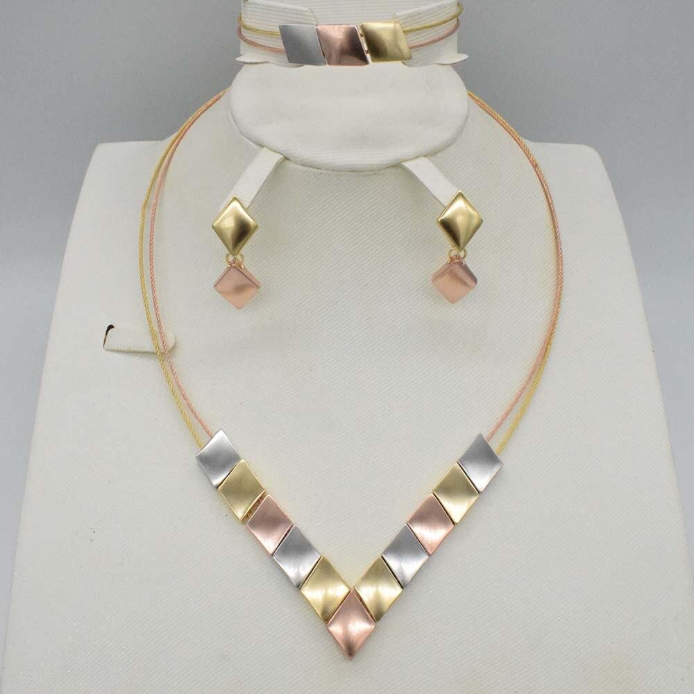 Conjuntos de joyería de color oro de Dubai, cuentas de cristal africanas de boda nigeriana, conjunto de joyas de novia, diamantes de imitación, joyería etíope