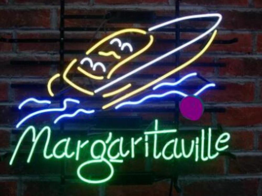 العرف مارغريتافيل جيمي بافيت قارب سباق الزجاج النيون ضوء تسجيل البيرة بار