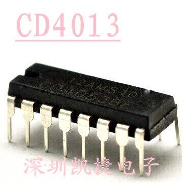 10 teile/los CD4013BE CD4013 HCF4013 HEF4013 linie von D-typ flip-DIP-14 neue original
