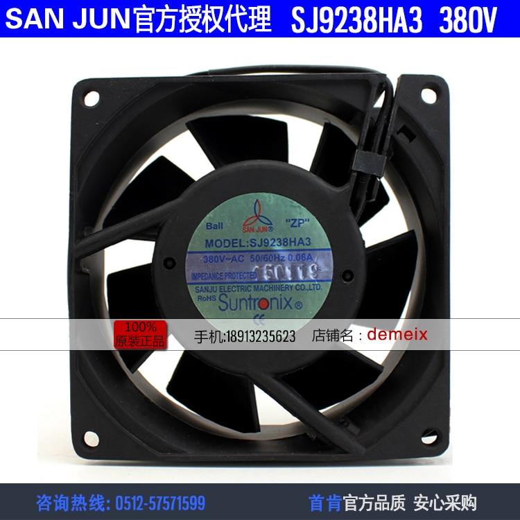 NEW Suntronix SAN JUN SANJUN SJ9238HA3 380V0.06A 9238 double ball bearing cooling fan