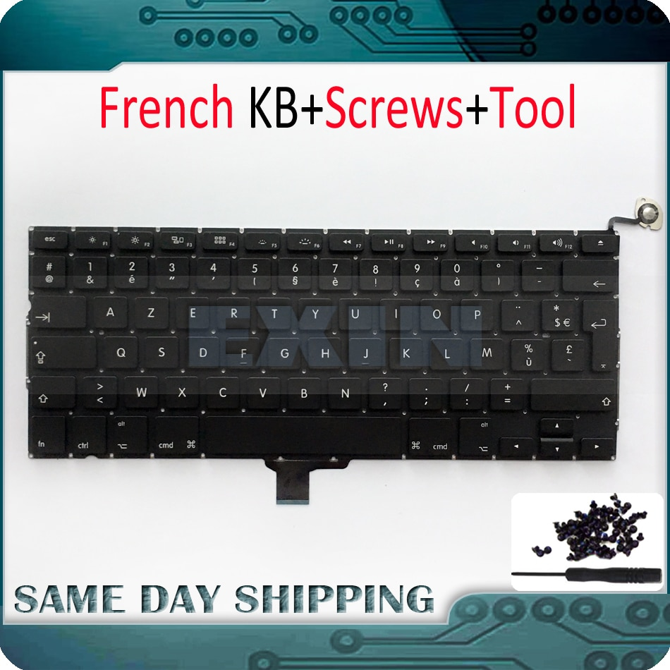 "NEW Laptop French Keyboard Azerty for Apple Macbook Pro 13"" 13.3'' A1278 Unibody MC700 MC724 2009 2010 2011 2012 2013 Year"