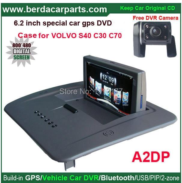 Car DVD Player for Volvo C30 C70 S40 car radio for Volvo S40,original car upgrade,keep original Radio(CD) all functions