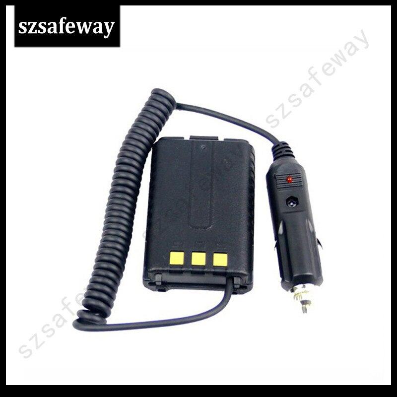 Cargador de coche de Eliminador de batería de radio de dos vías para Baofeng UV-5R UV 5R envío gratis