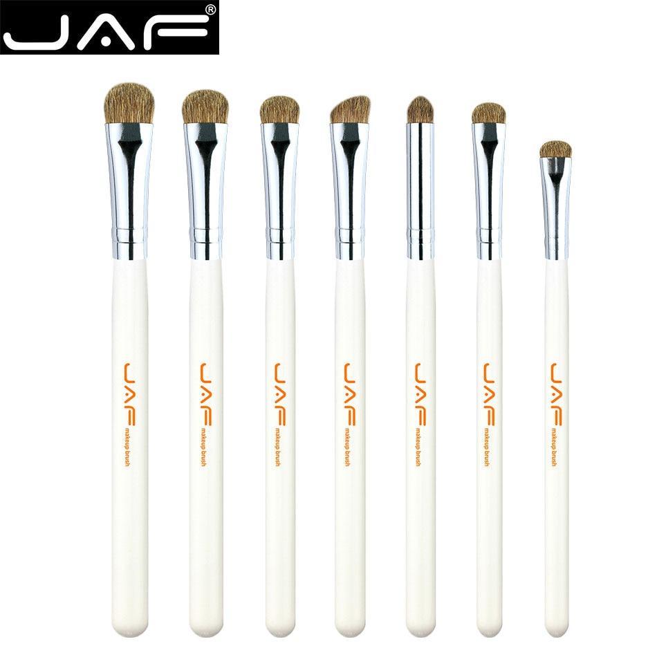JAF Brand 7 Pcs/set Makeup Brushes Professional Soft Natural Horse Hair High Quality Face Eyeshadow Lips Make Up Brushes