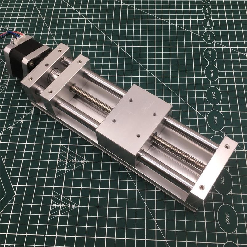 Motor paso a paso NEMA17, juego de actuador deslizante de eje Z, ROUTER deslizante CNC de viaje antiretroceso de 120 MM, impresora 3D, kit de tobogán cruzado de PLASMA