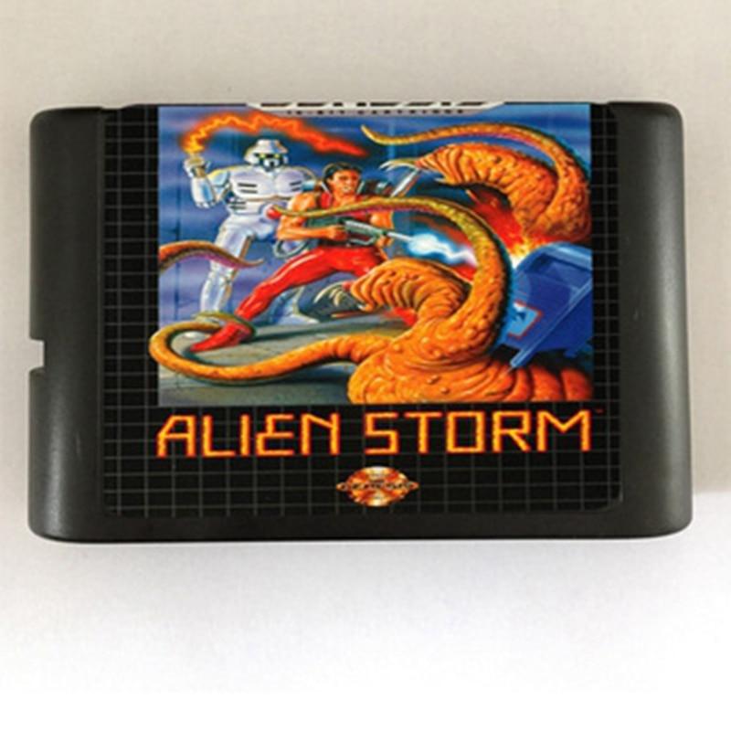 Cartucho de juego Alien Storm, novedad, tarjeta de juego de 16 bits para Sega Mega Drive / Genesis System