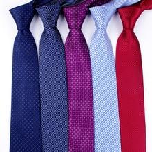 Cravate classique pour homme   Cravate de mariage formelle 8cm, cravate à col rayé, chemise de mode, accessoires pour robe