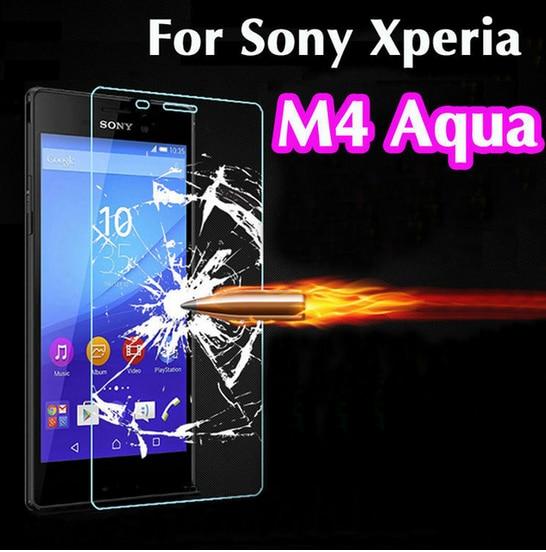 2 piezas para vidrio Sony Xperia M4 aqua Protector de pantalla de vidrio templado para Sony Xperia M4 aqua película de teléfono de vidrio para Sony M4 aqua> <