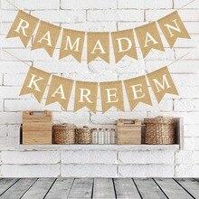 EID MUBARAK Banner EID Festival Bunting Banner Ramadan Supplies Garland Islamic Muslim Mubarak Decoration