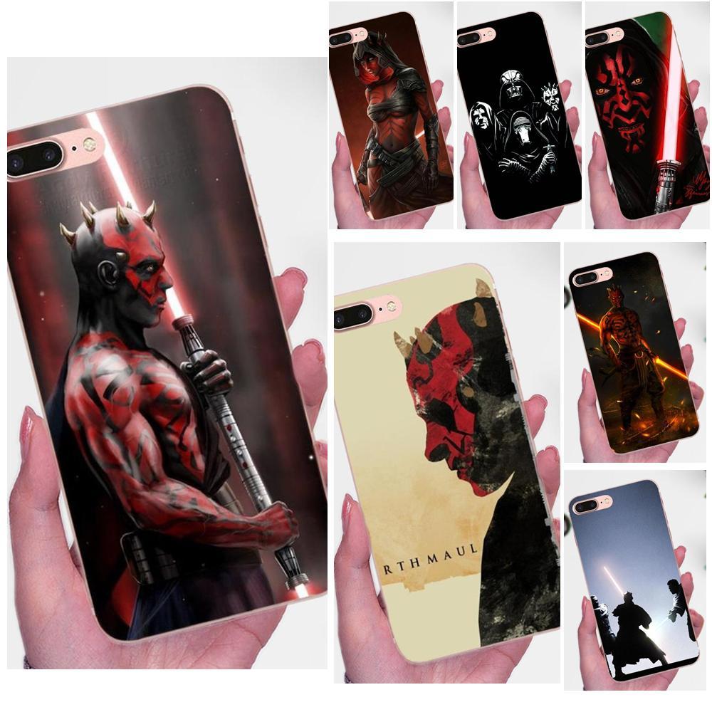 Darth Maul Escuro Lado Para Xiaomi Mi3 Mi4 Mi4C Mi4i Mi5 Mi 5S 5X 6 6X 8 SE A1 Max Mix 2 Nota 3 4 Soft Case de Proteção