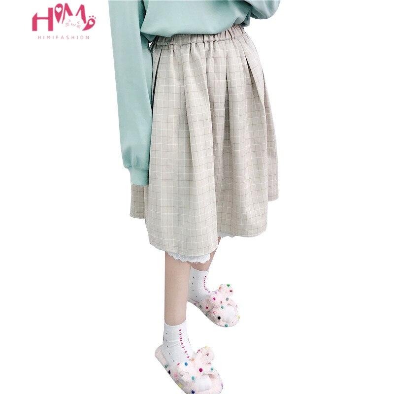 تنورة كاواي يابانية ناعمة للبنات ، تنورة لوليتا عالية الخصر ، عتيقة ، دانتيل منقوش ، خط A ، توتو ميدي ، صيف 2020