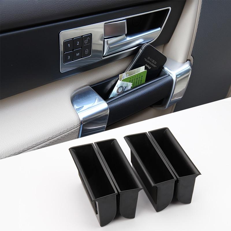Para Land Rover Discovery 4 LR4 2010-2016 accesorios, puerta manija caja de almacenamiento ABS negro