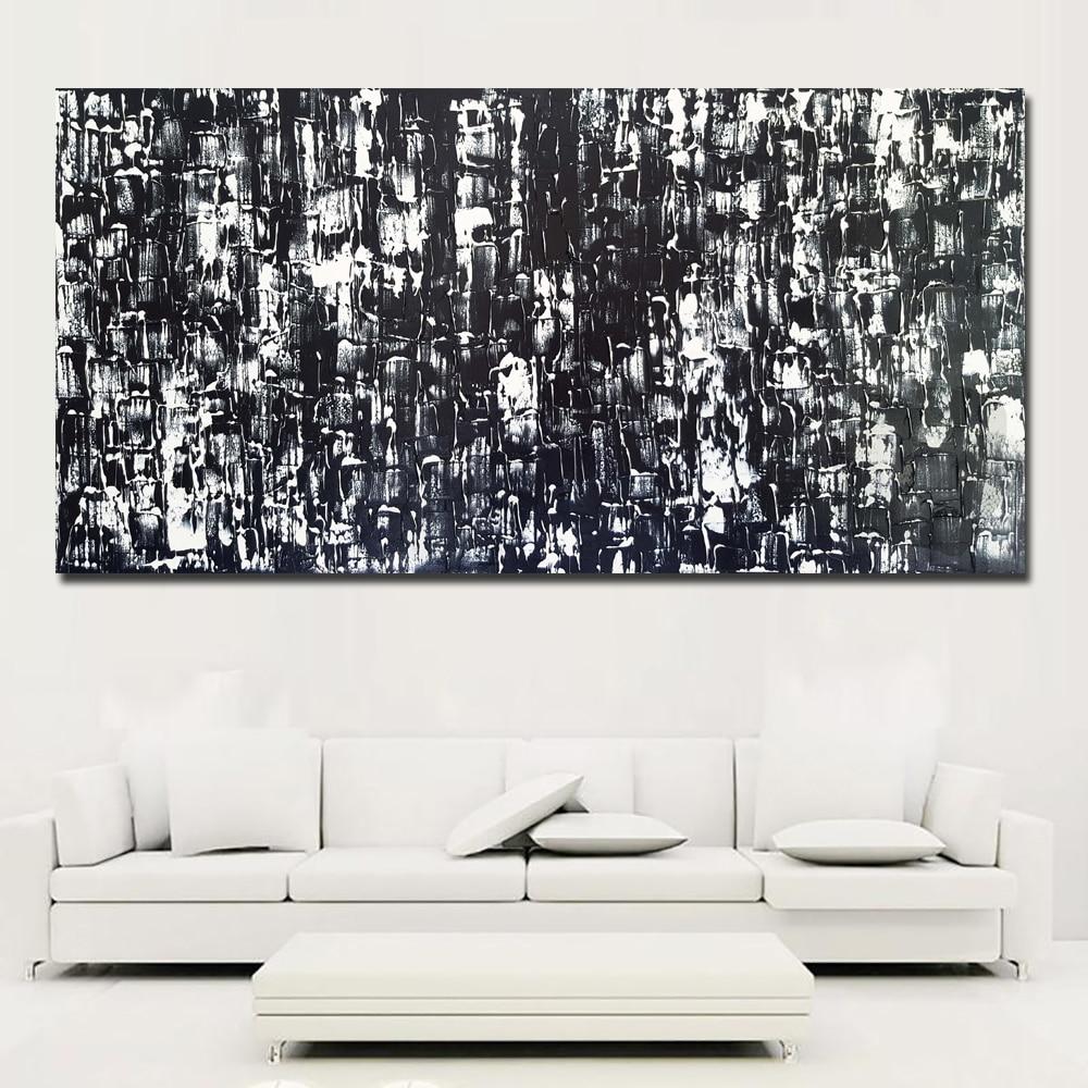 Lienzo de arte abstracto, pintura en blanco y negro, pintura abstracta moderna impresa en lienzo, póster impreso, decoración del hogar sin marco
