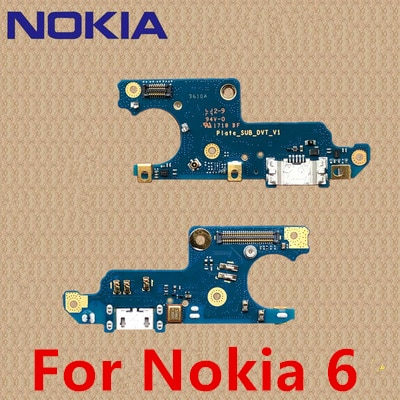 100% Original For Nokia 6 Charging Port PCB Board USB Charging Dock For Nokia X7 X6 6.1 7 .1 7 PLUS For Nokia 6 7 8