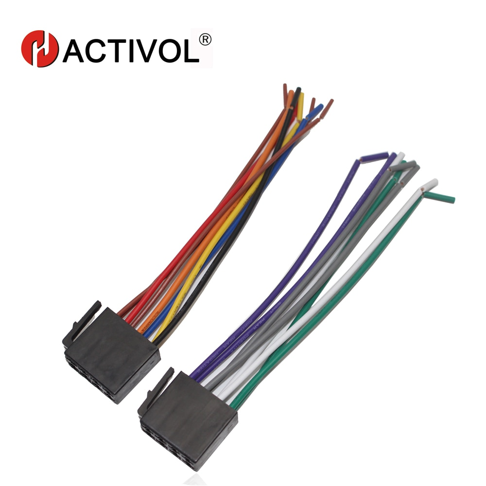 Car Radio Stereo Female ISO Plug Power Adapter Wiring Harness Special for Forte Bora polo universal ISO harness power cable