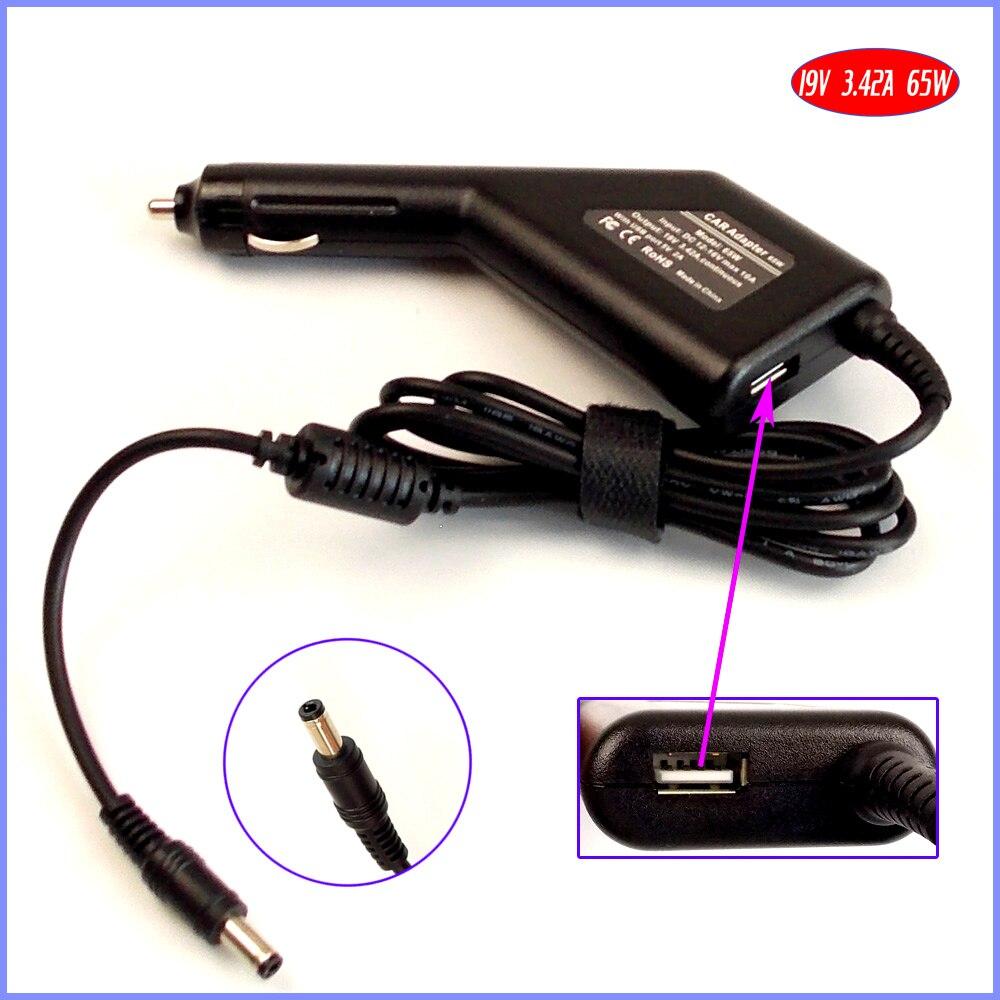 Автомобильное зарядное устройство для ноутбука, 19 в, 3,42a, 65 Вт, адаптер постоянного тока + USB (5 В, 2 а) для Lenovo Y310, 80A, 100A, Z565, Z560, Z575, Z580, U310-437522U