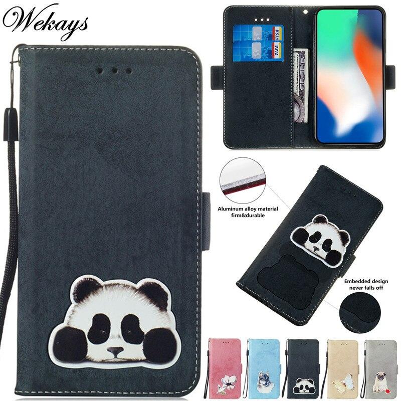 Wekays Coque para Nokia 7 Plus 7 7 Panda de dibujos animados de cuero Funda para Nokia X5 X6 Funda para nokia 5,1 más 6,1 Plus Capa