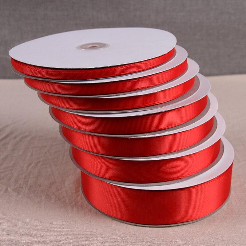 Bow diy0.6-4 cm material para el cabello rib belt Cinta Roja hilo rojo con cintas rojas volumen al por mayor