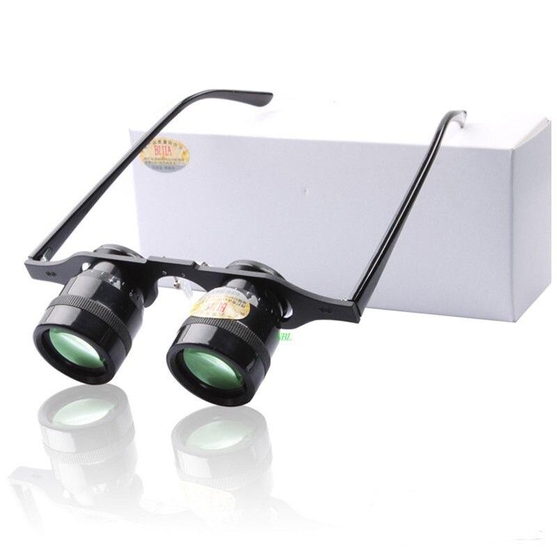 Gafas de pesca Bijia, binoculares de lupa con aumento de 10X, película verde, lupa HD para senderismo, concierto, ver deporte con caja