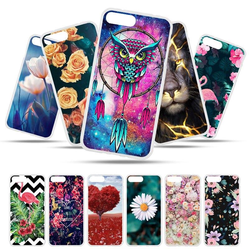 Funda Bolomboy pintada para iPhone 8, funda de silicona suave de TPU para iPhone 8 Plus, funda de flores silvestres, bolsas de animales bonitos