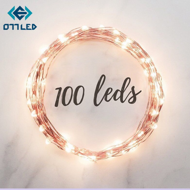 holiday lighting 5m 50led string light copper silver wire battery fairy christmas garland wedding party decoration outdoor New 2M 5M Copper Silver Wire LED String lights Waterproof Holiday lighting For Fairy Christmas Tree Wedding Party Decoration