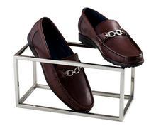 Soporte Ropa nueva exhibición de accesorios de acero inoxidable de alto grado soporte de exhibición de zapatos estante abrazadera tienda de zapatos Pantalla de ventanas