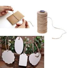 100 Mt Natürliche Jute Handarbeit Gewebt Hanf Seil Geschenk Box Bilderrahmen String Seil Handwerk Hochzeit Tags Wraps Dekoration Ornament