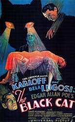 Черный кот 1934 самый дорогой классический фильм ретро, ВИНТАЖНЫЙ ПЛАКАТ, Картина на холсте, сделай сам, настенная бумага, домашний декор, пода...